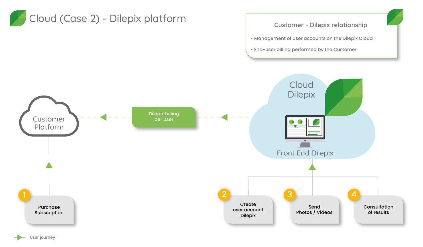 Dilepix Cloud scenario 2 solution from the Dilepix platform