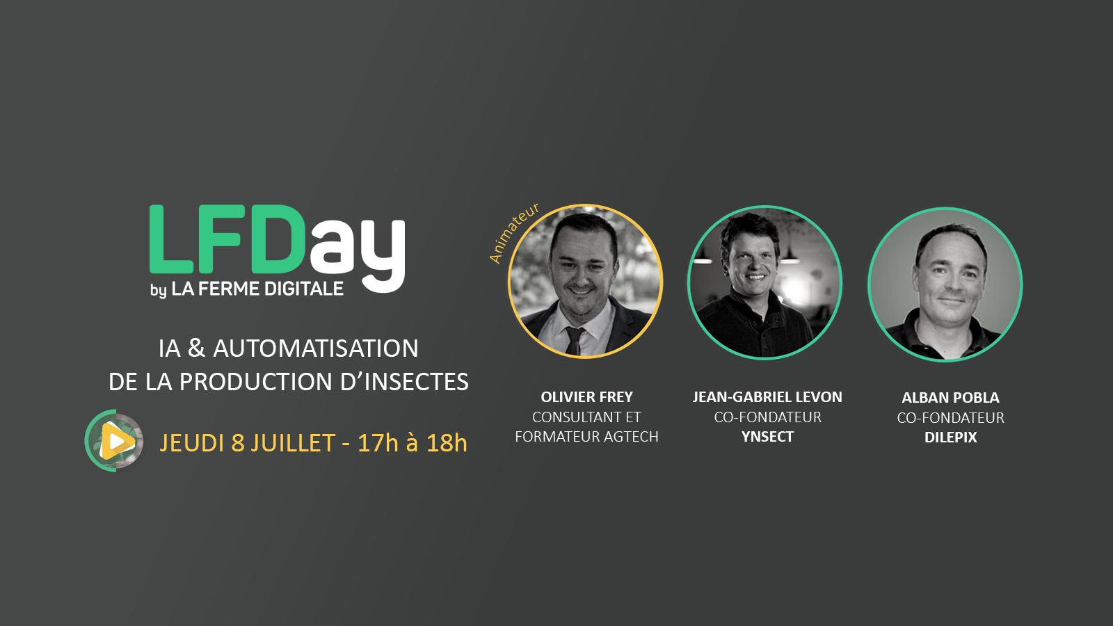 ▶ [REPLAY] LFDay Live IA et automatisation de la production d'insectes